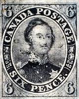 Timbre canadien de six pence