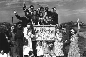 Célébration aux Pays-Bas, en 1945