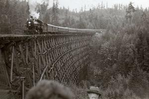 Kinsol Trestle Bridge, 1954