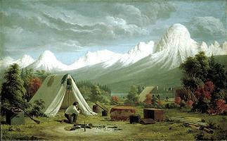 Boat Encampment, Painting