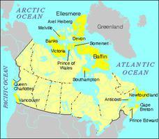 Îles du Canada, carte des