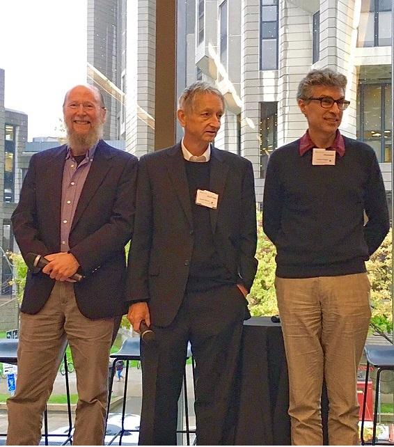 Photographie de trois chercheurs en apprentissage profond
