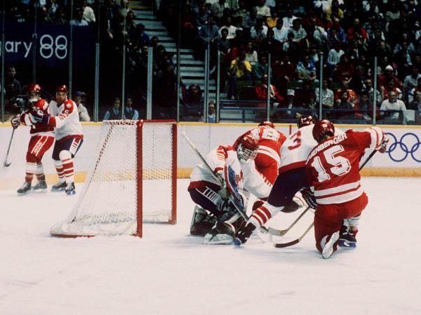 Men's Hockey Team, 1988 Calgary Games