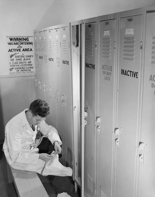 Photo of a plant worker at the Chalk River Laboratory