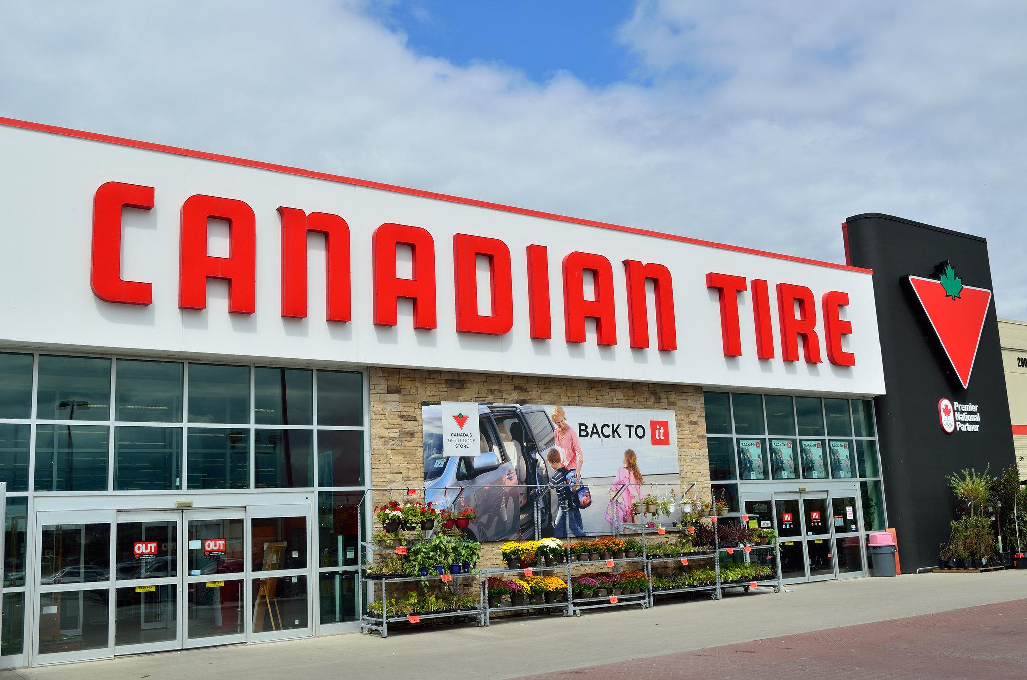 Photographie d'un magasin Canadian Tire