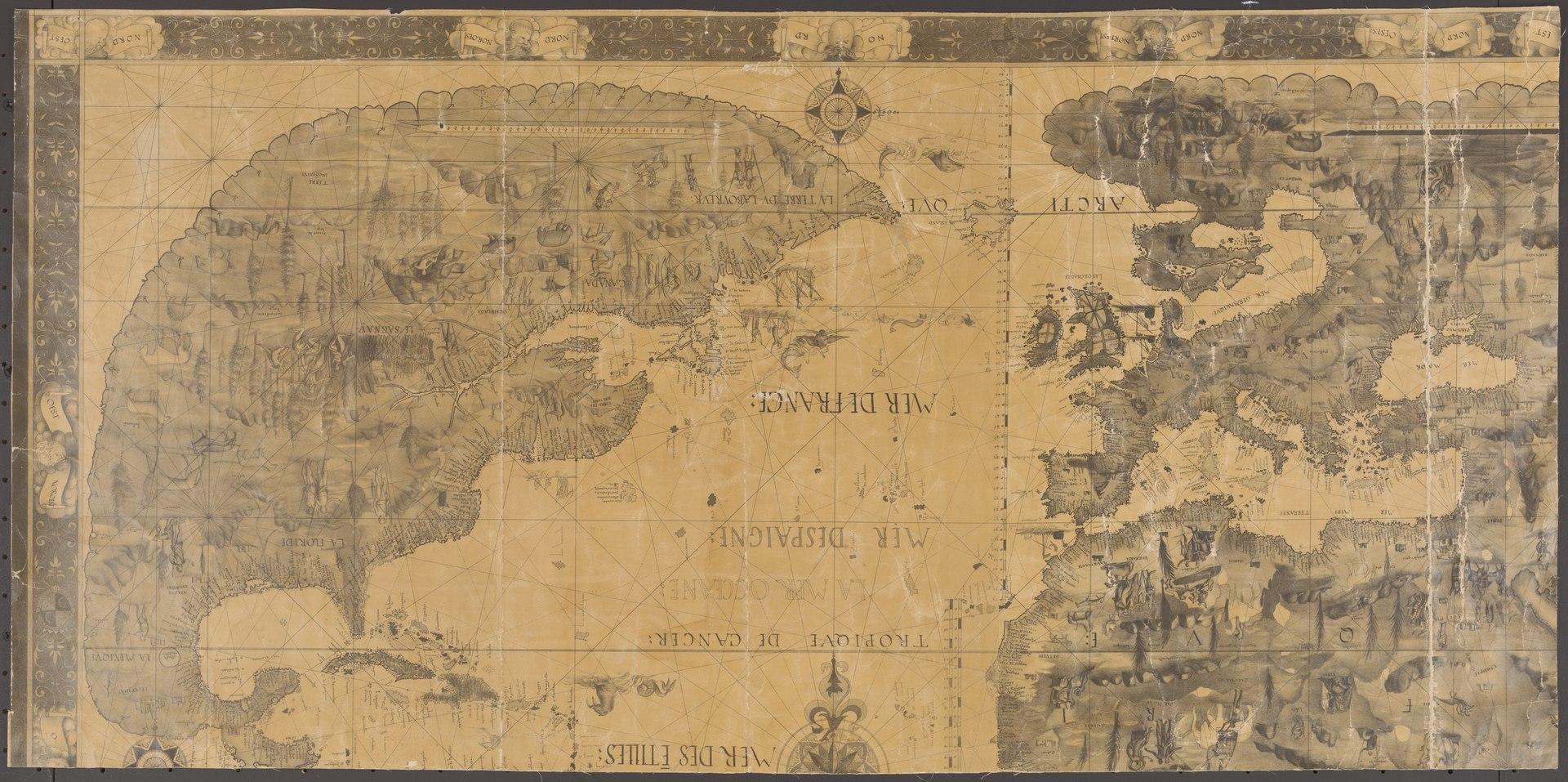 Pierre Desceliers Map, 1546
