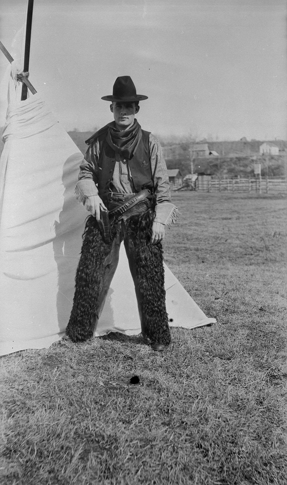 Photographie d'un cowboy