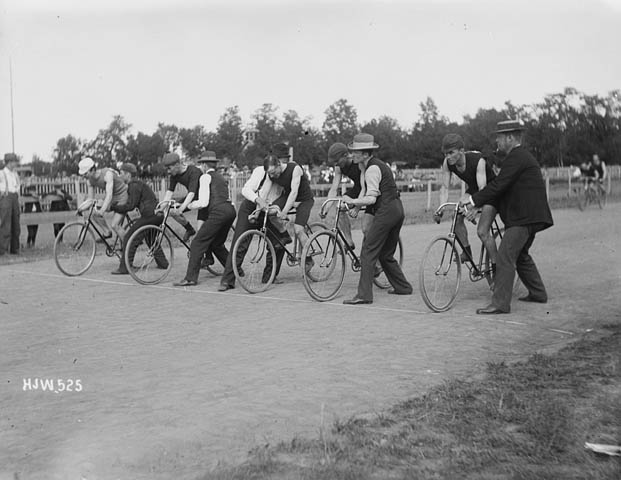 Bicycle Race, ca. 1895