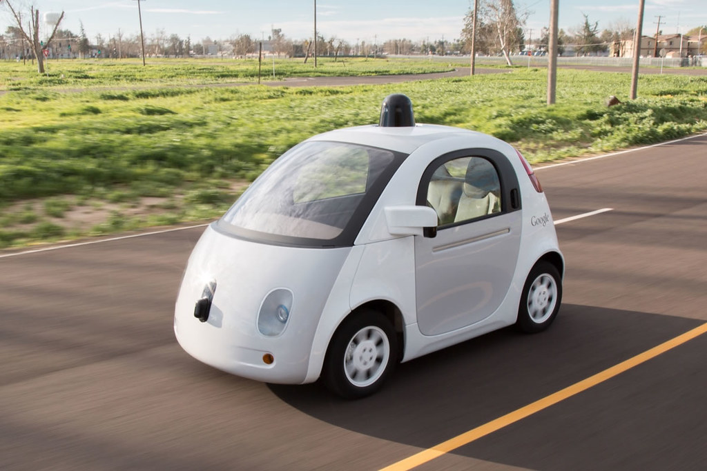 Photo of a self-driving car