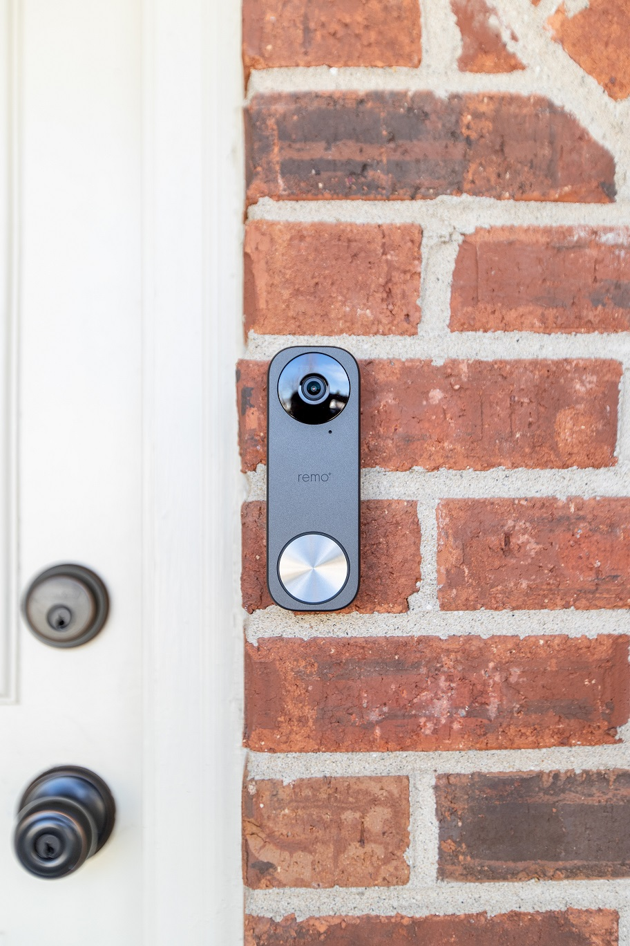 Photo of a smart doorbell with video camera