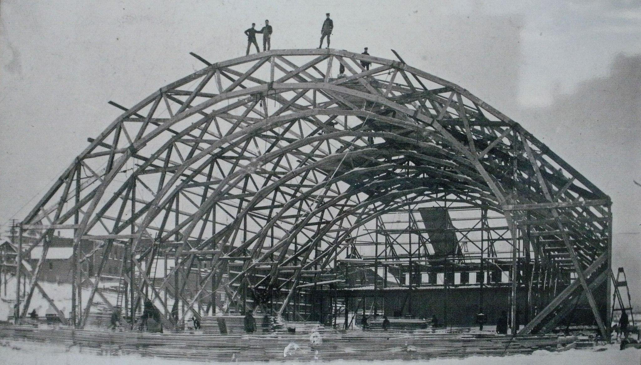 Amphidrome de Houghton en construction, 1902