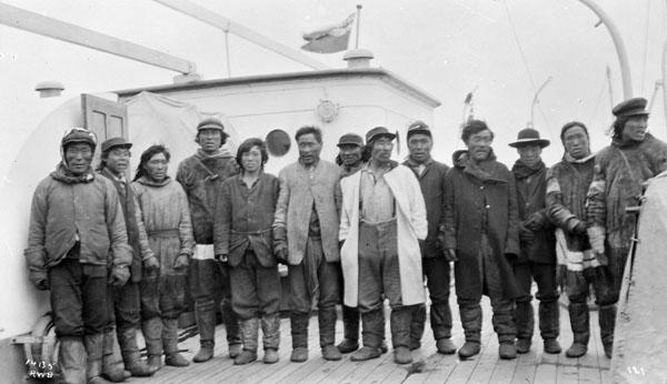 Inuit Men in Churchill, 1910