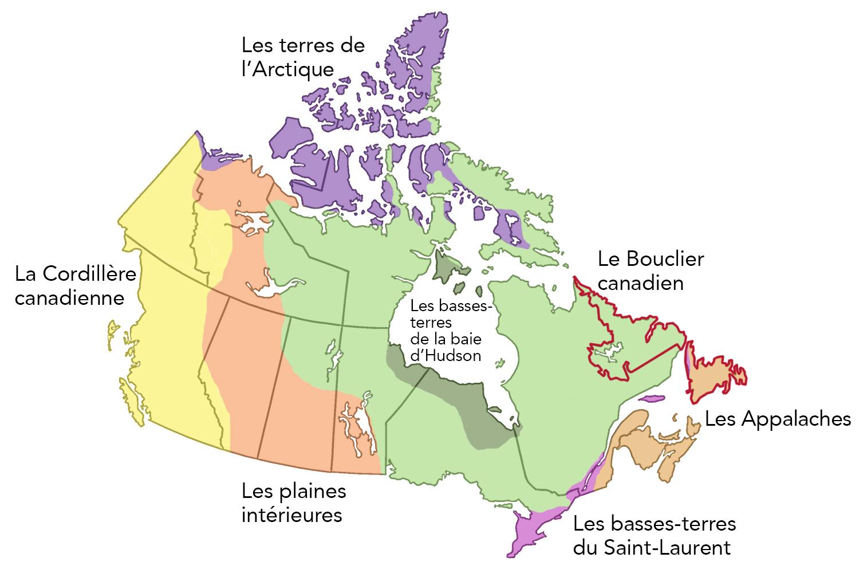Régions physiographiques de Terre-Neuve-et-Labrador