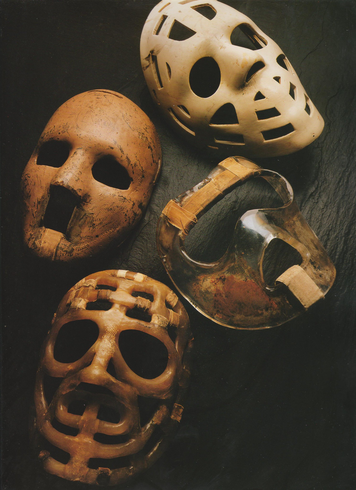 Masques de Jacques Plante
