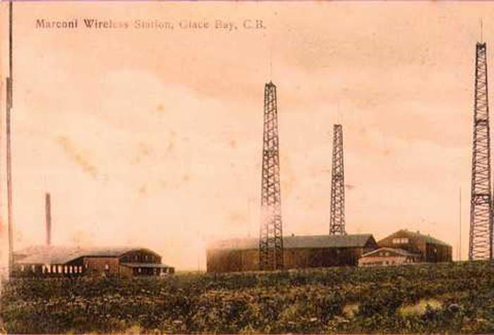 Photo du site de communication sans fil et des tours Marconi, à Glace Bay