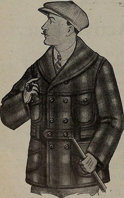 Image of Makinaw coat in Canada Lumberman, 1921.