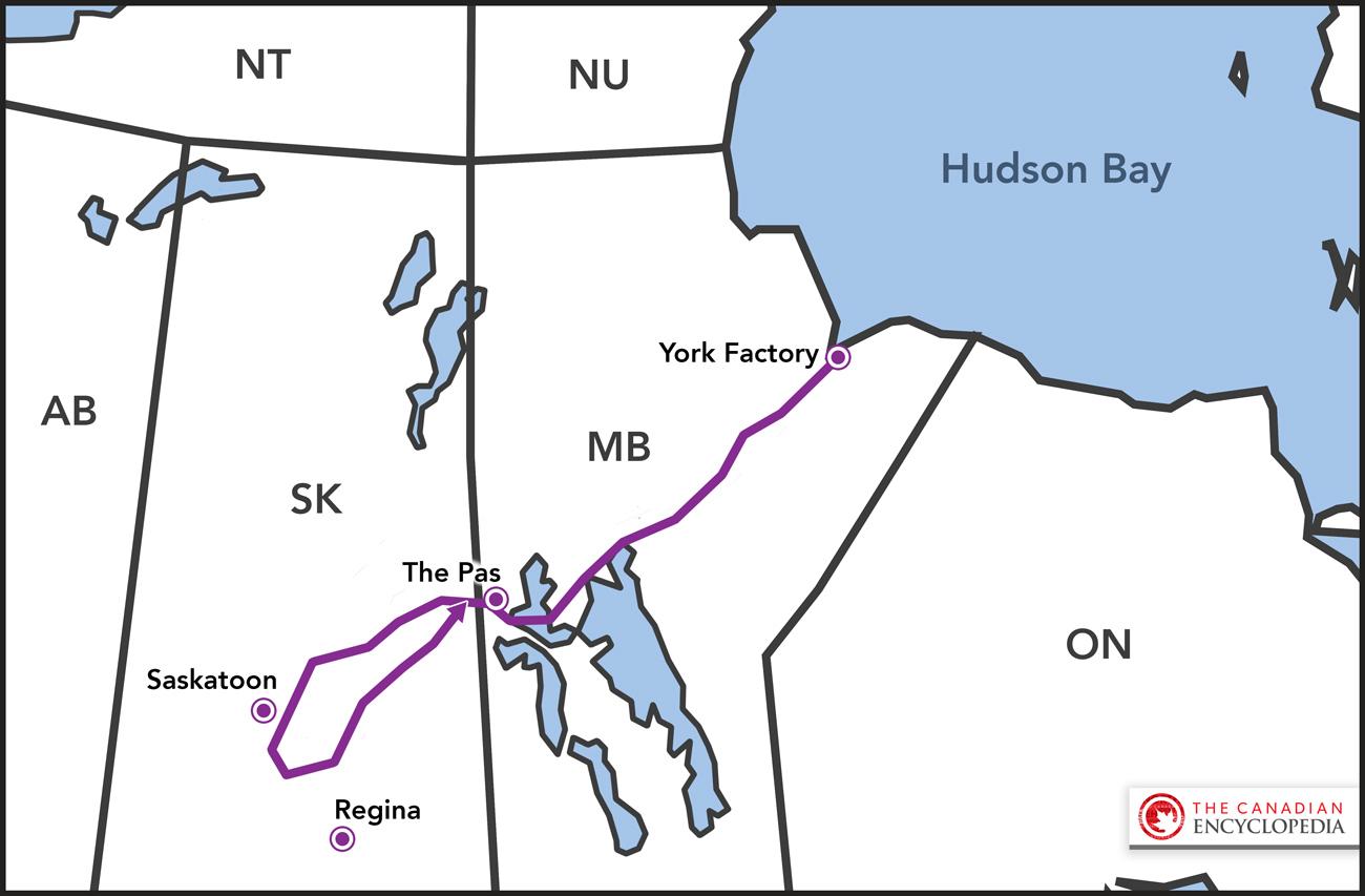Henry Kelsey's 1690-92 Journey