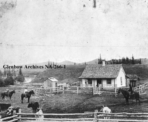 Photo of John Ware's first ranch