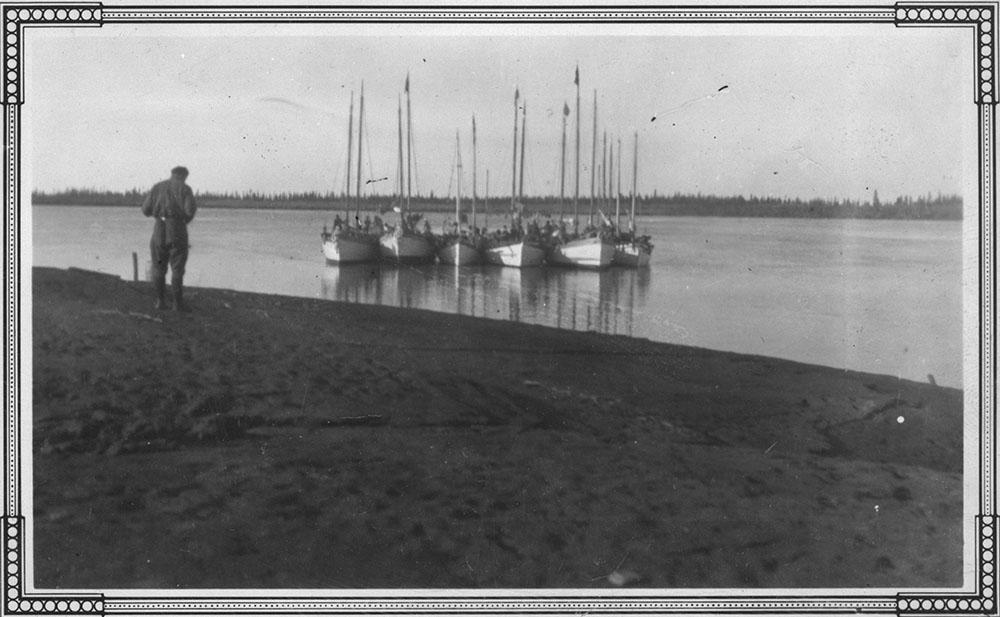 Schooners on Mackenzie River