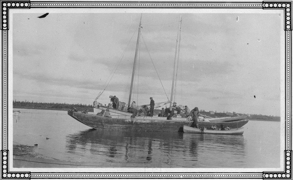 Ships on Mackenzie River