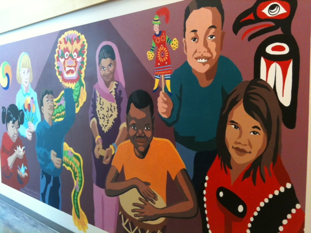 Murale sur le multiculturalisme