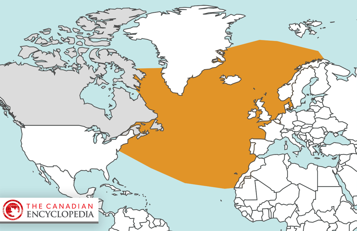Range of the Northern Bottlenose Whale (Hyperoodon ampullatus)