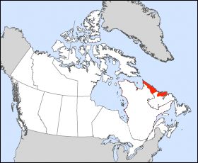 Carte du Nunatsiavut