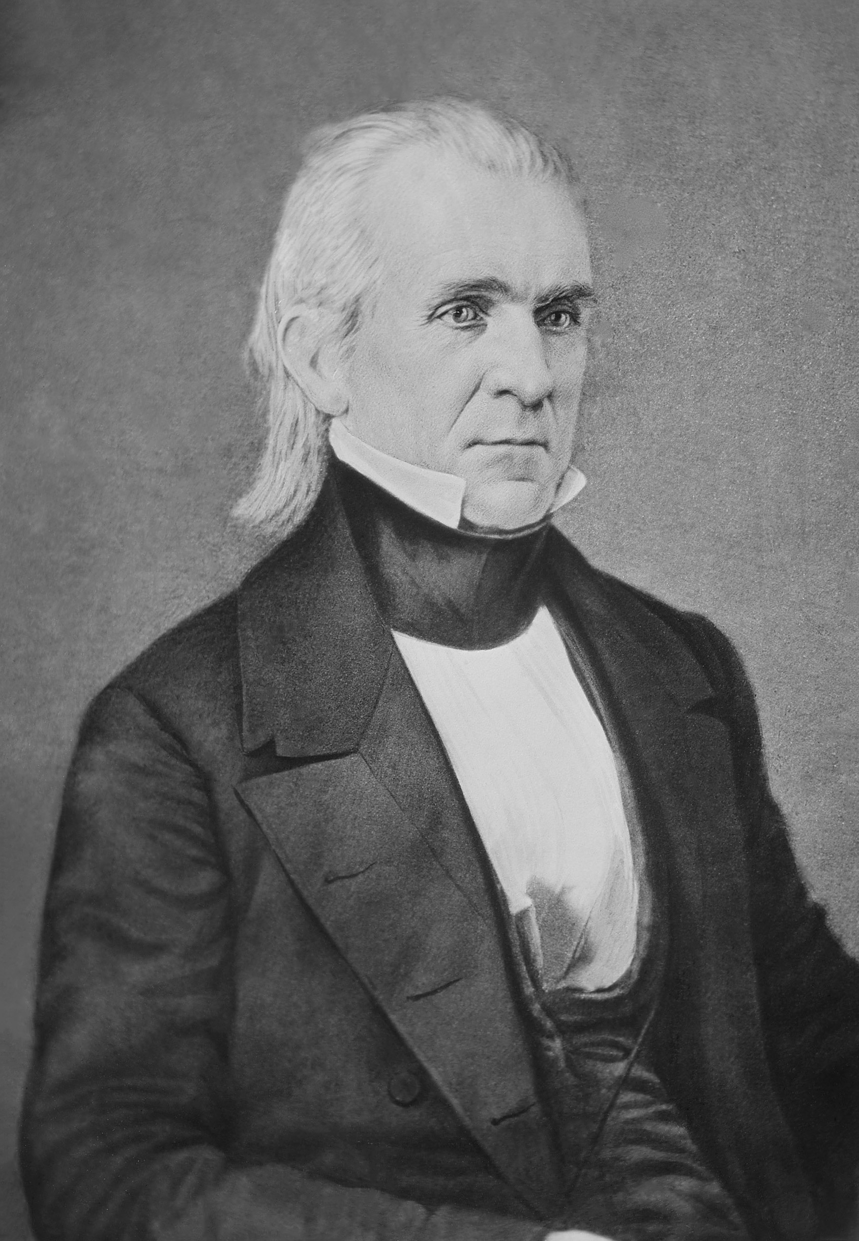 James Knox Polk, the 11th President of the United States, in the late 1840s.