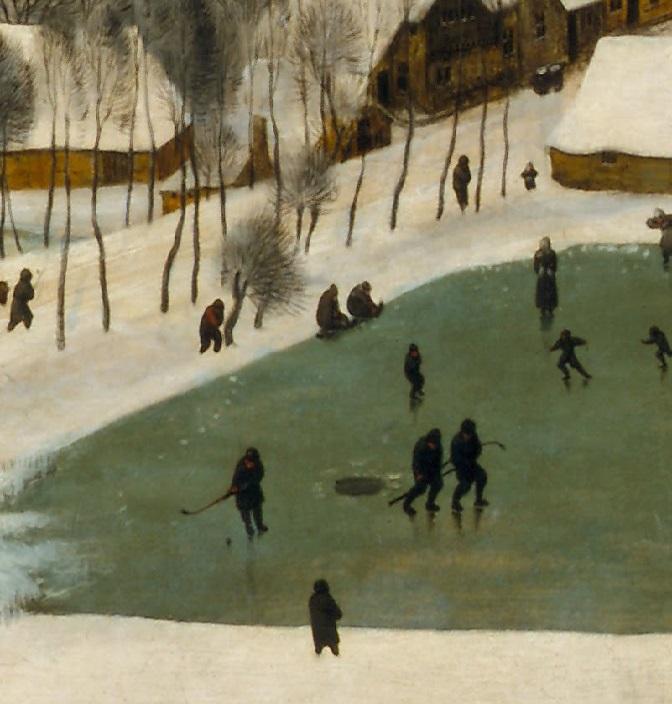 Chasseurs dans la neige (détail)