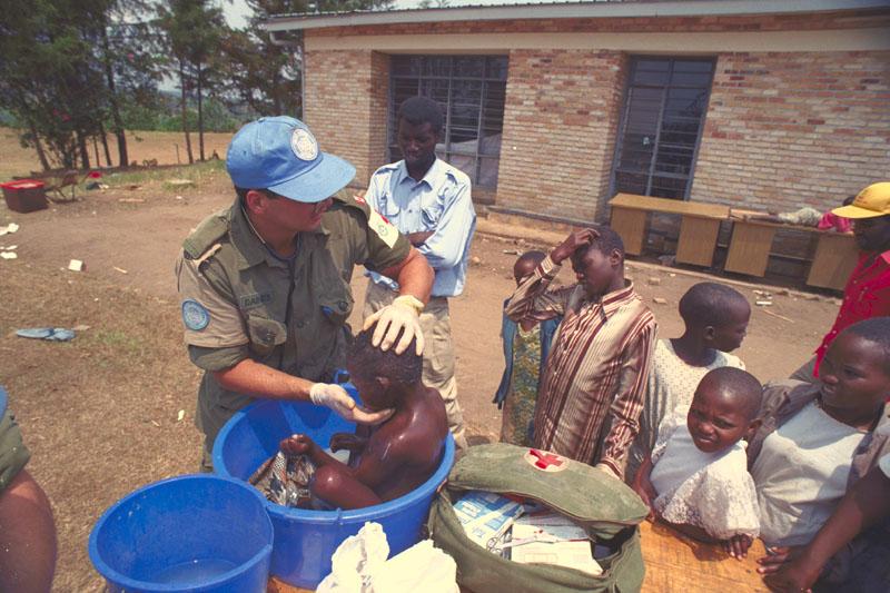 Casques bleus canadiens au Rwanda