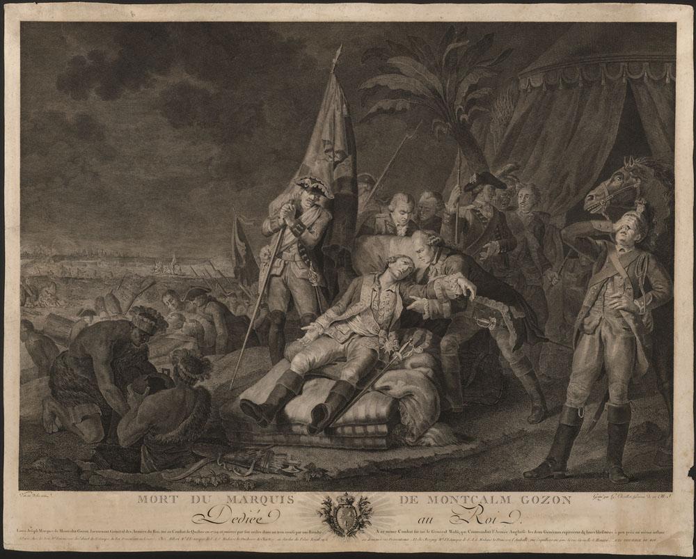 Mort du Marquis de Montcalm