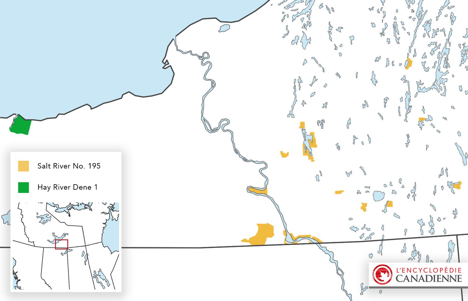 Réserves dans les Territoires du Nord Ouest