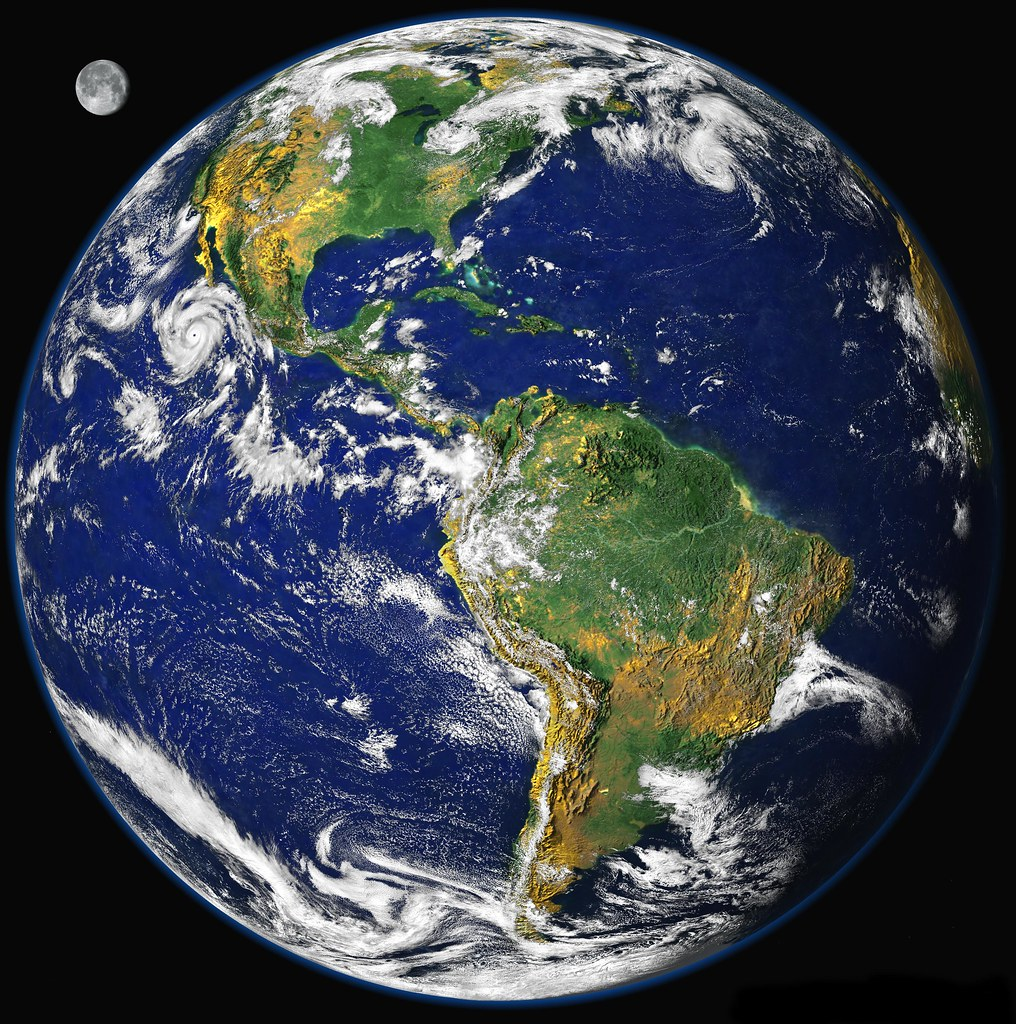 Photo of planet Earth showing North and South America