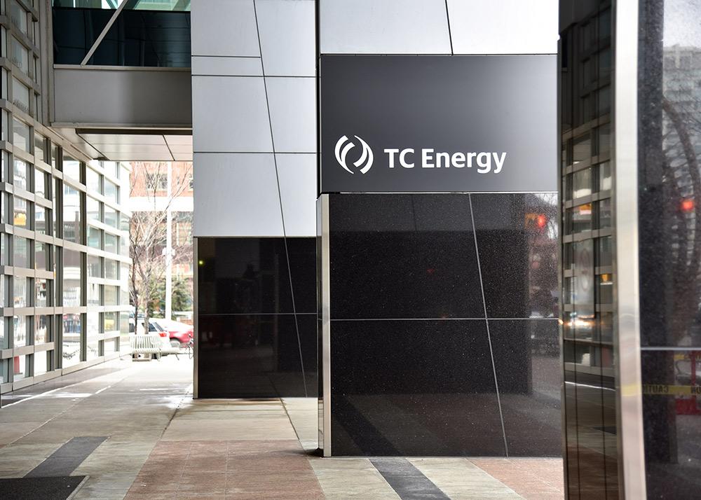 TC Energy logo on company headquarters