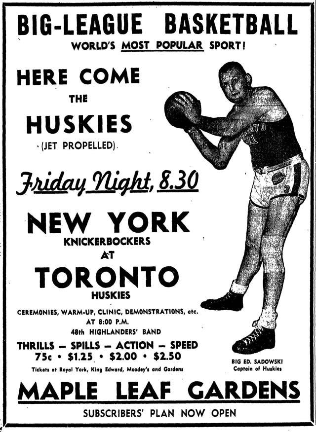 Huskies c. Knickerbockers 1946