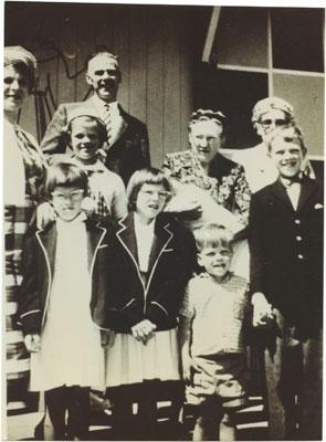 Margriet et Wilf Gildersleeve et leur famille