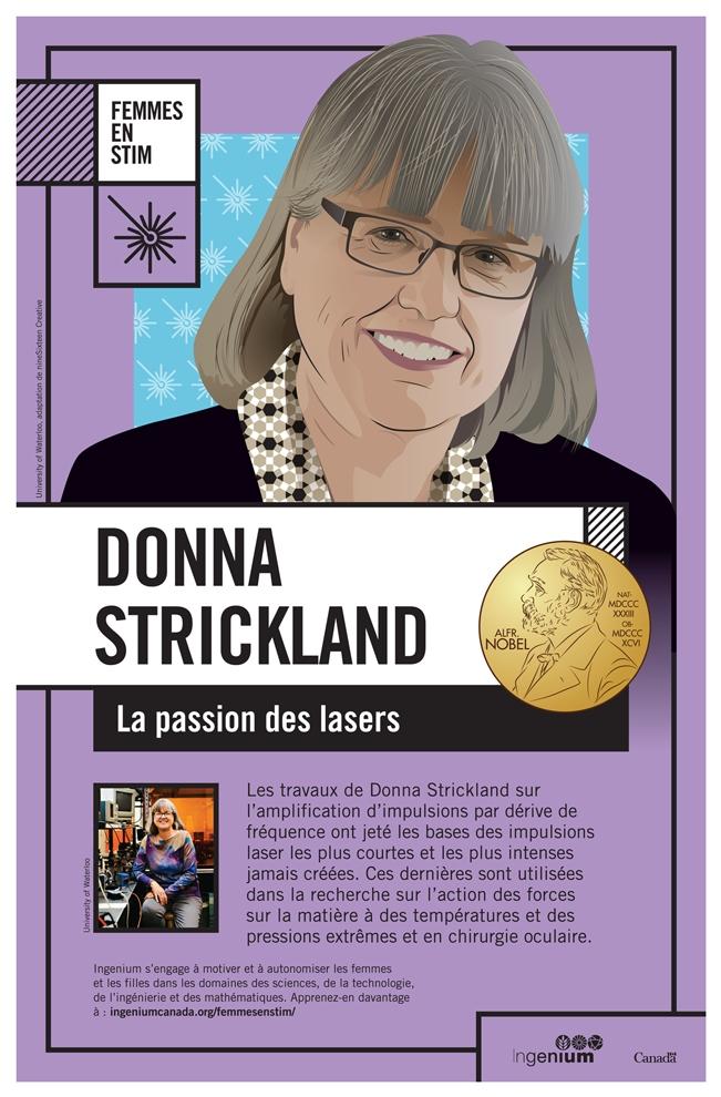 Affiche sur les travaux de Donna Strickland