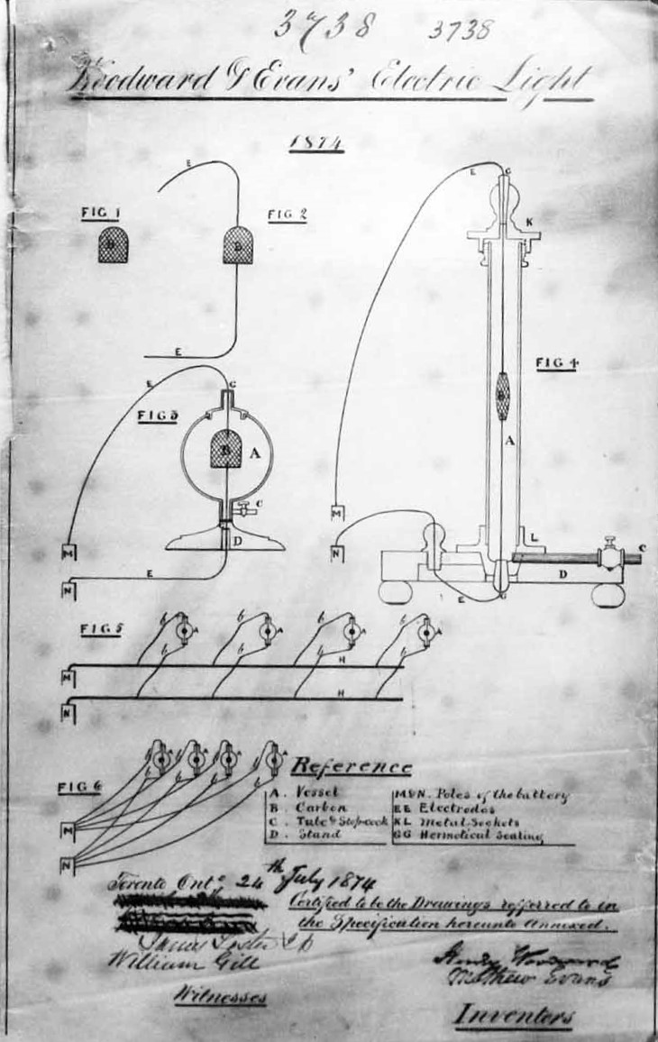 Woodward and Evans' Canadian patent
