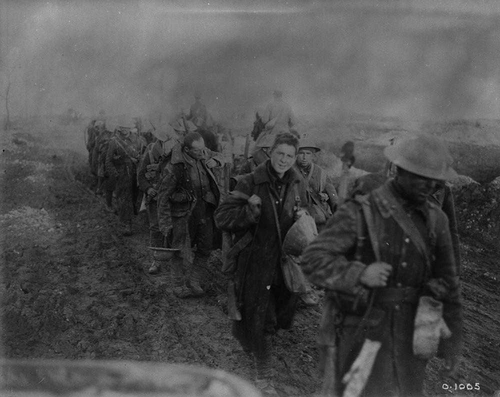 Soldats canadien, bataille de la Somme