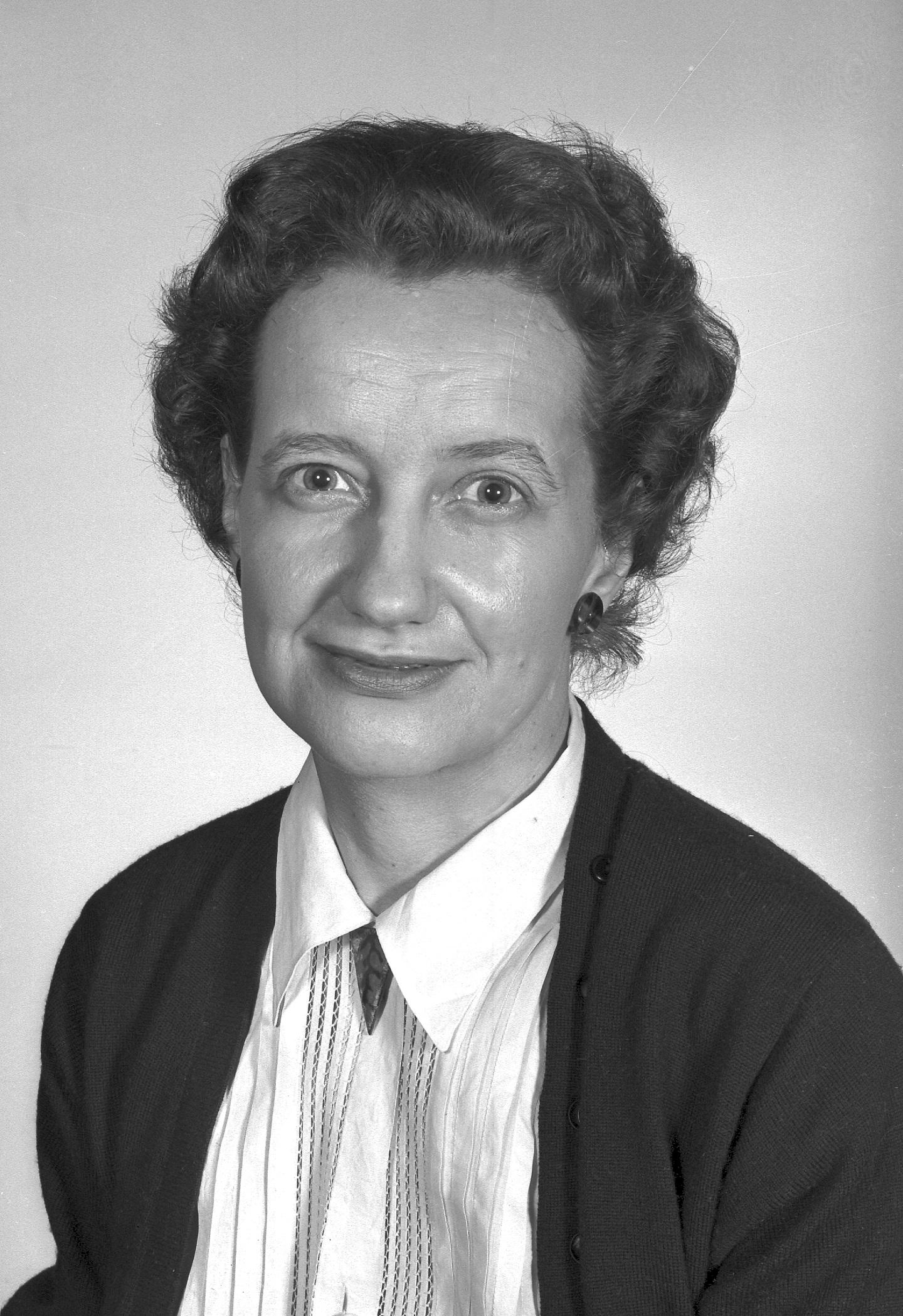 Photo of Brenda Milner in 1956