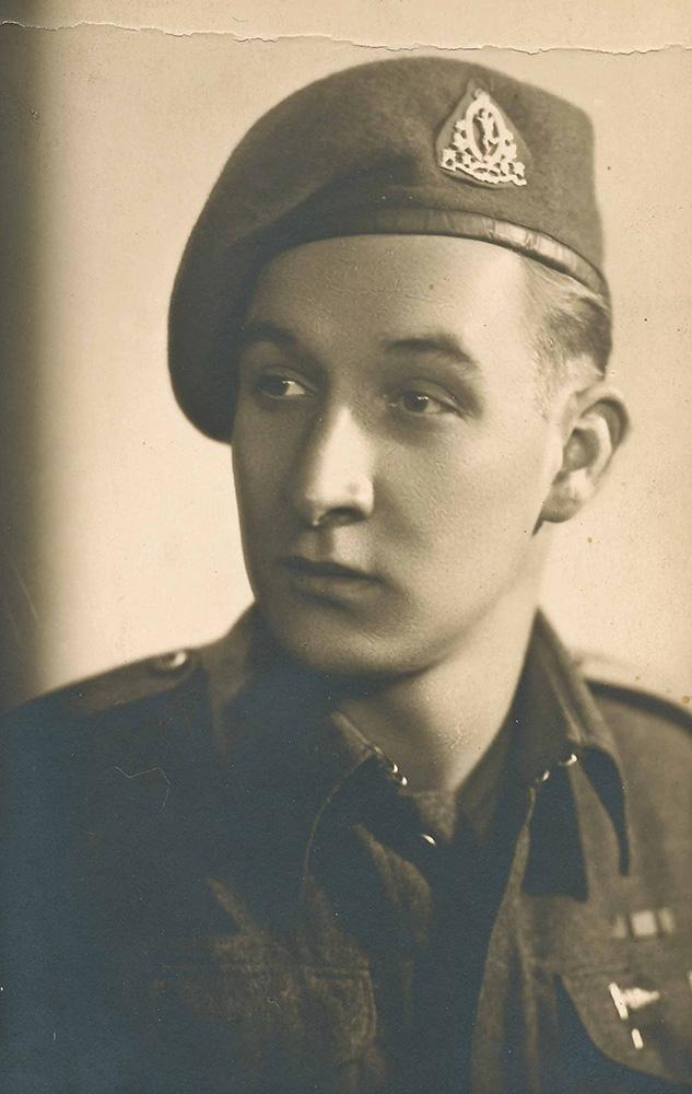 Charles England, 22, in Belgium.