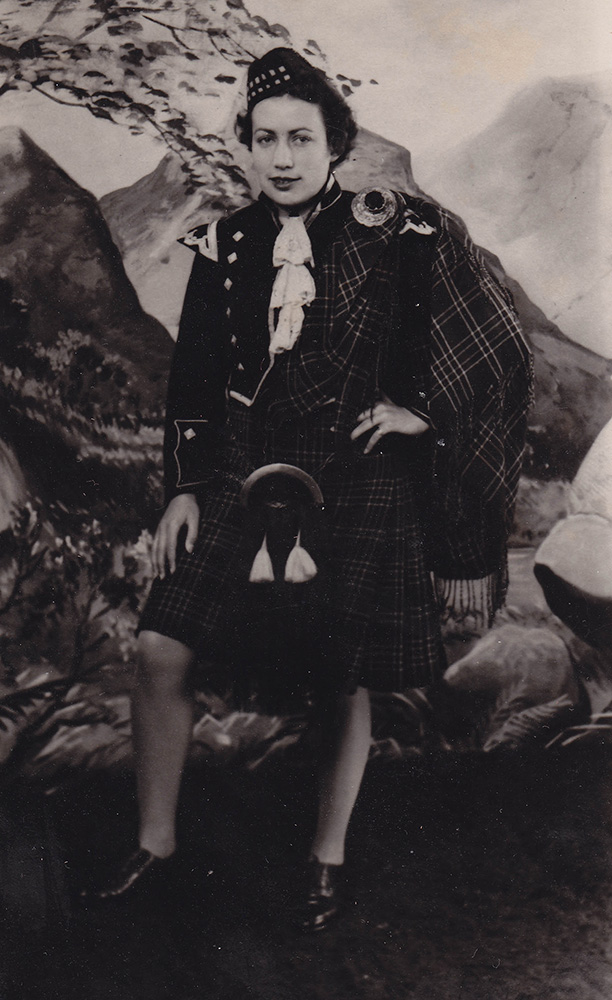 H. Rochon on leave, Glasgow, September 20, 1944.