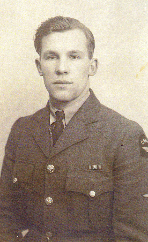 Mr. James Annett when he first joined the Royal Canadian Air Force (RCAF) in 1942.