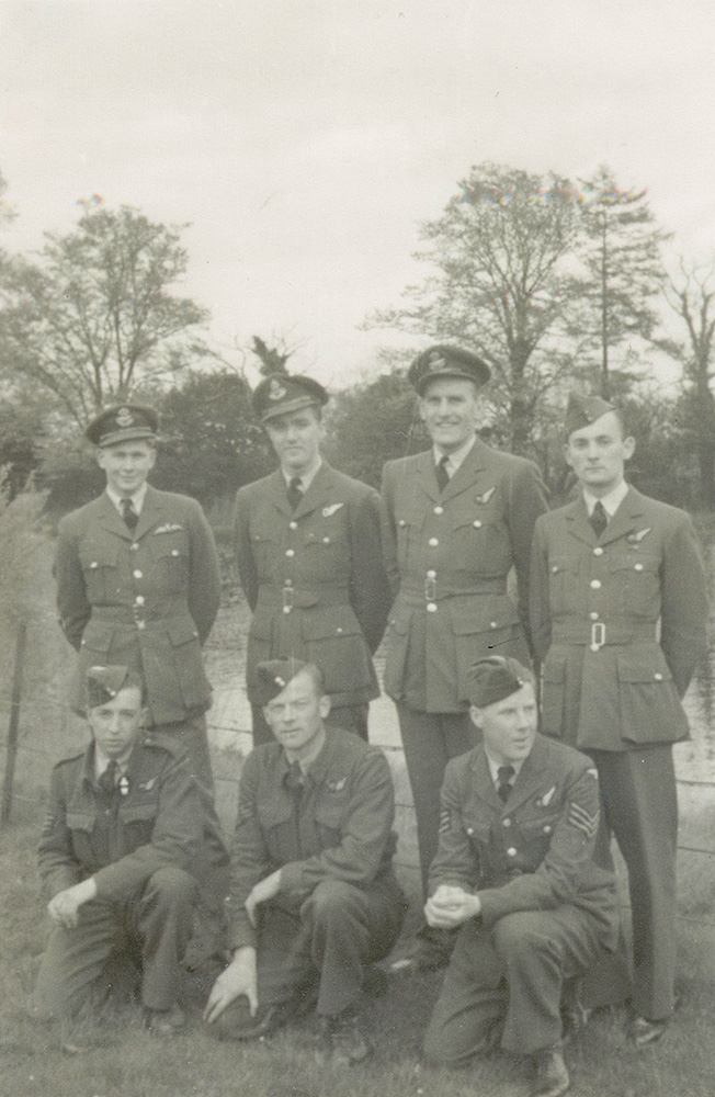 Malcom MacConnell and his Crew as they commenced their tour of operations with Bomber Command, June 1944.
